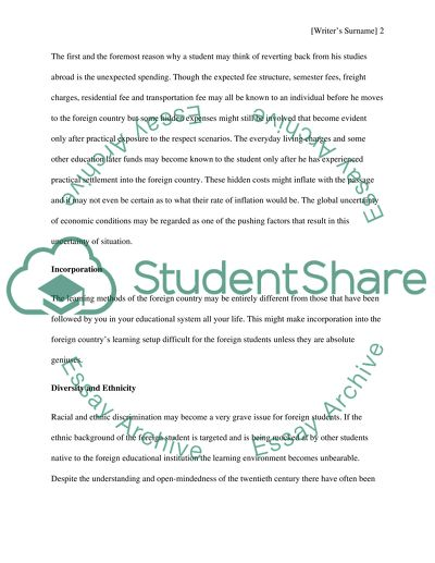 Proposal essay about studying abroad