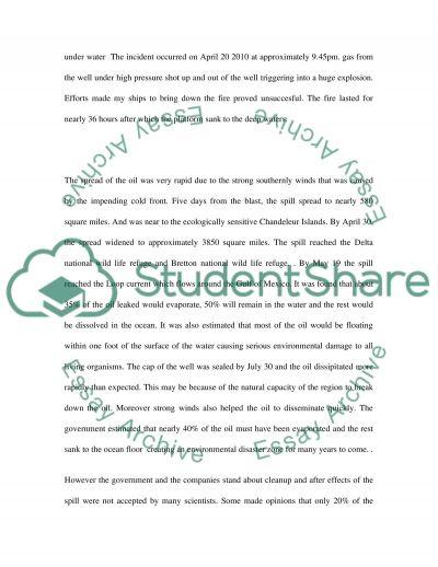 Water incident essay example