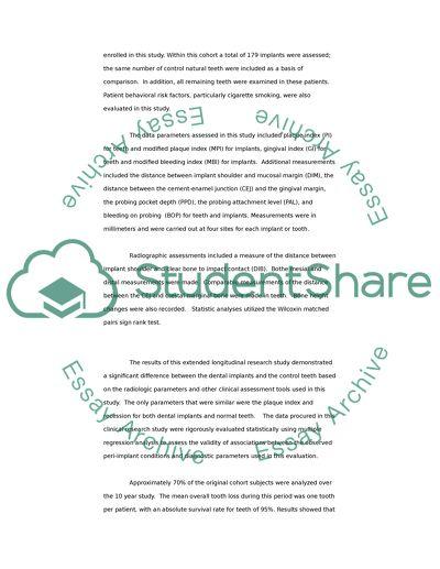 Implant essay example