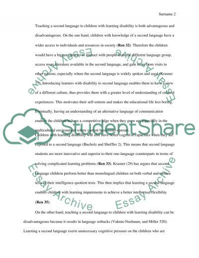 SE essay example