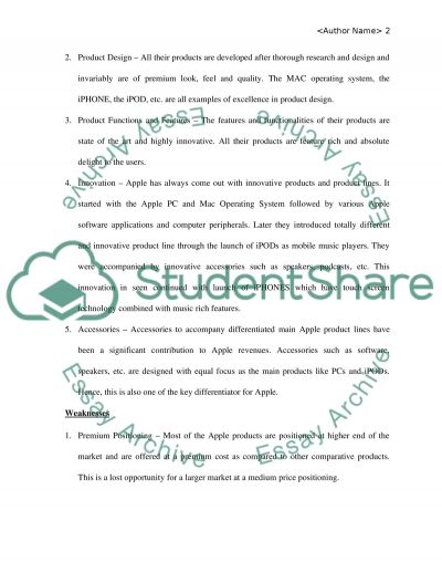 Apple Company essay example