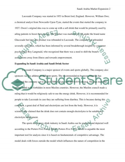 Lucozade Company International Expansion Essay example