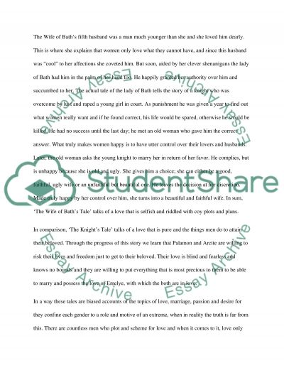 the knight s tale and the wife of bath s tale essay the knights tale and the wife of baths tale essay example