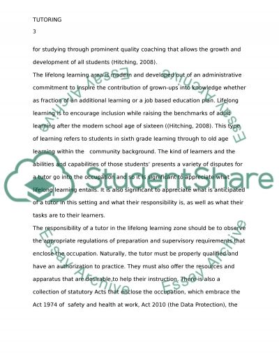 Tutoring essay example