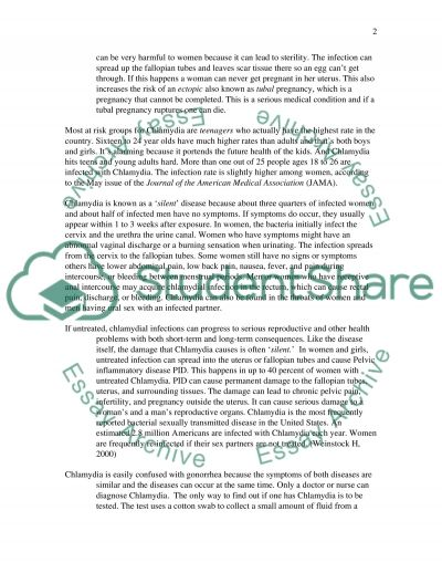 CHLAMYDIA AMONG TEENS AND YOUTH essay example