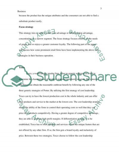 Strategic Planning essay example