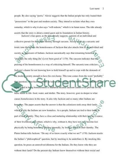 sherman alexie 3 essay Flight study guide contains a biography of sherman alexie, literature essays, quiz questions, major themes, characters, and a full summary and analysis.