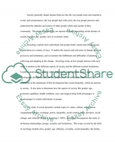 Sociology of Health and Healthcare essay example
