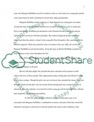 Early Childhood Care and Education essay example