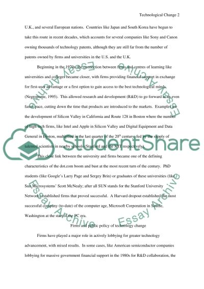 Information Technological Change and Innovation essay example