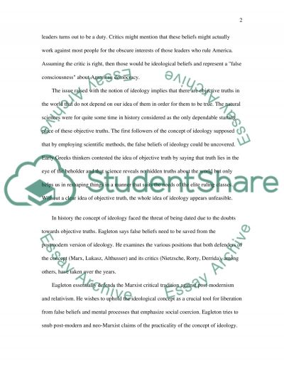Ideology Essay essay example