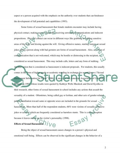 Sexual Harassment essay example