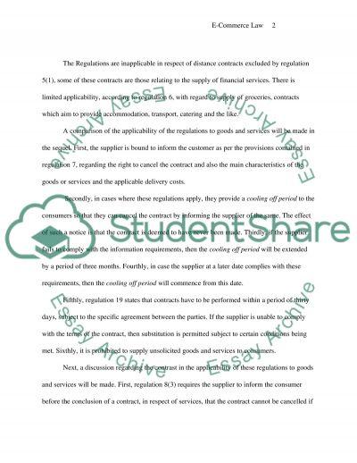 E-Commerce Law essay example