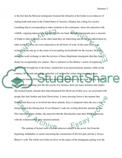 Symbolic Use of Nature and Wildlife Imagery in Tortilla Curtain Essay