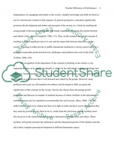 Teaching Practice Essay example