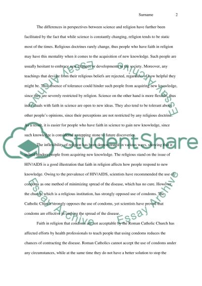 HOW DOES OUR FAITH IN RELIGION AND SCIENCE AFFECT OUR GAINING NEW KNOWLEDGE essay example