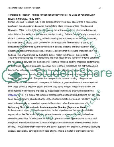 Teachers Education in Pakistan