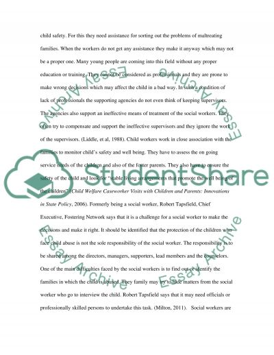 Professional Issues - Child Protection essay example
