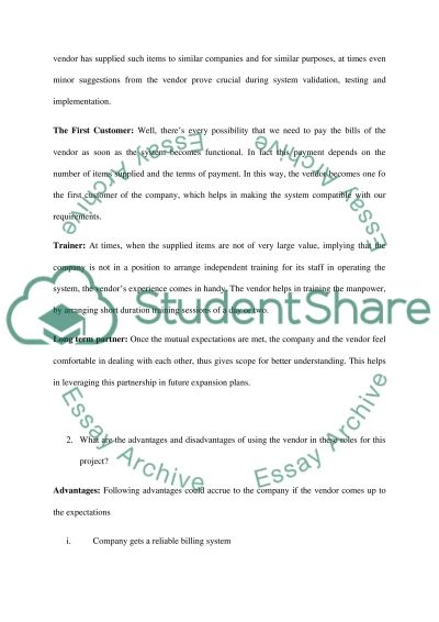 Project Planning essay example