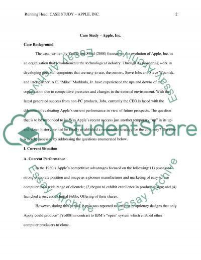 Case Study on Apple essay example