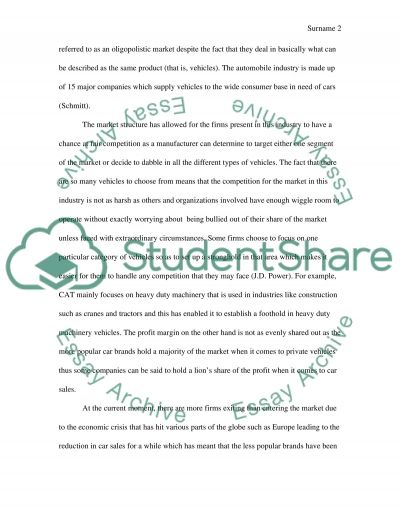Industry essay example