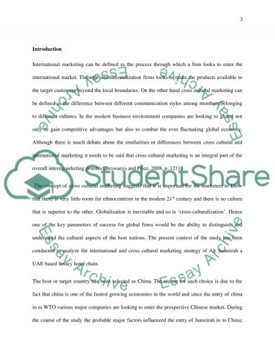 International and Cross-Cultural Marketing essay example