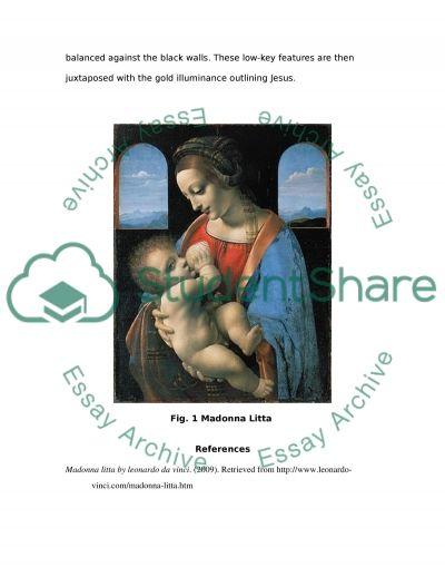 Describing and Analyzing a Work of Renaissance Art