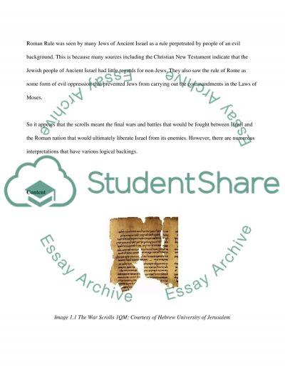 War Scroll (1QM) essay example