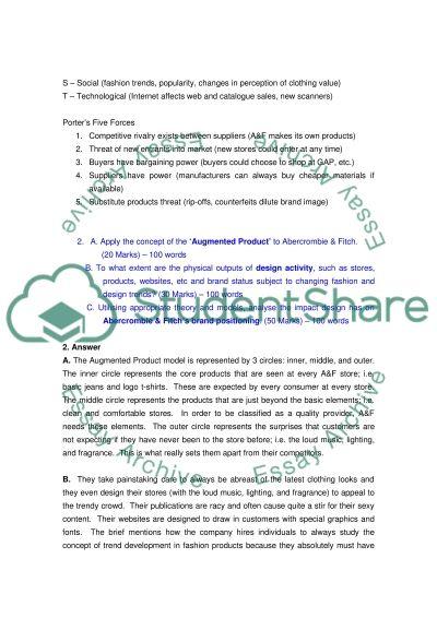 Abercrombie & Fitch: Case Study Exam essay example