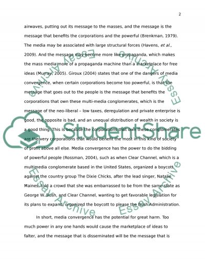 Media Convergence essay example