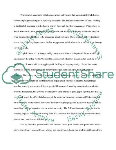 Write about Ashland university experience