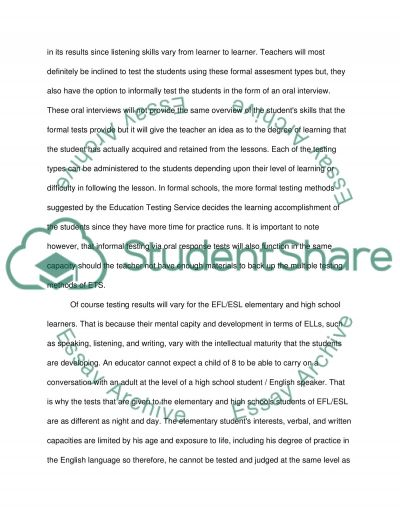 Assignement essay example