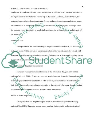 Nursing confidentiality essay