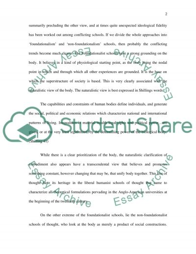 Childhood Embodiment essay example