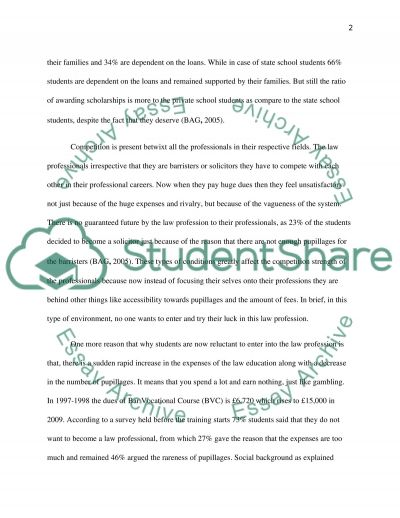 T0 what extent are law graduate denied access to the legal profession essay example
