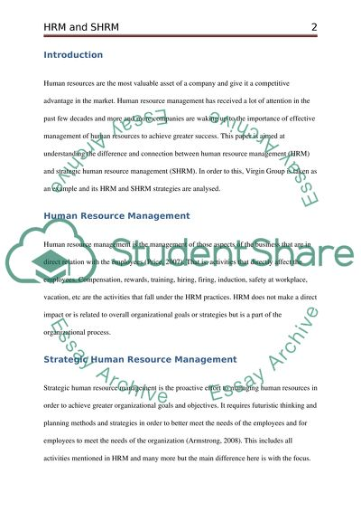 HRM And SHRM