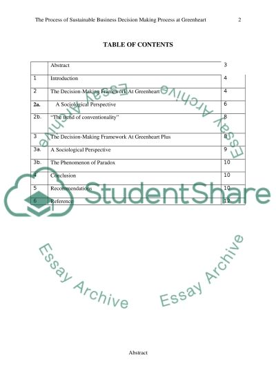 Management- Sociology of decision making - case study analysis report essay example