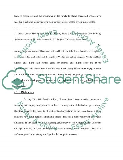 from civil rights to black power Essay example