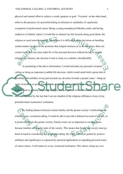 To what should I dedicate myself? Essay example