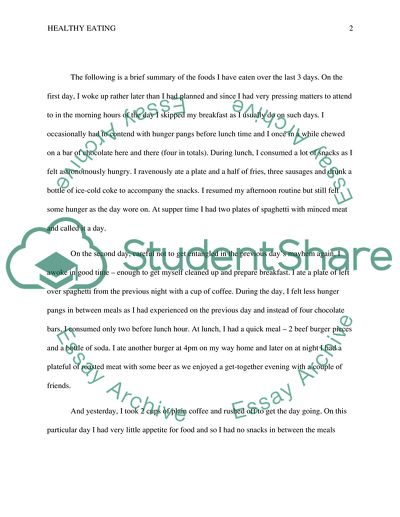healthy eating essay example  topics and well written