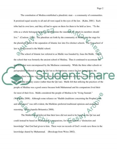 Development of the Five Islamic Schools of Law essay example