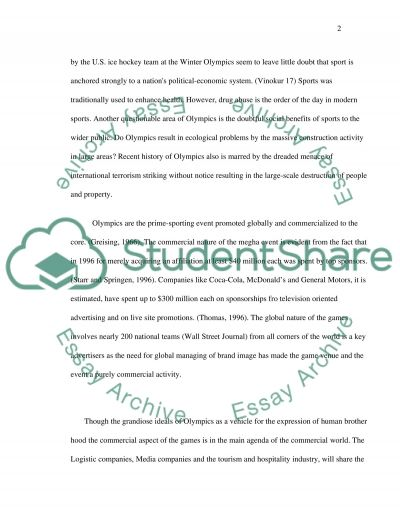 Olympic Games essay example