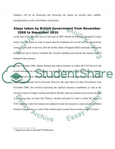 British Economy from November 2008 to november 2010