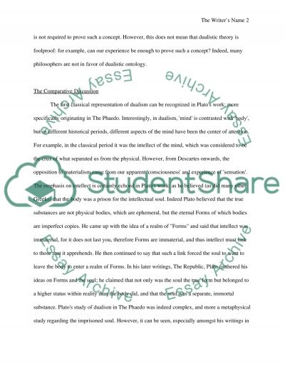 Forms and Substance Dualism essay example