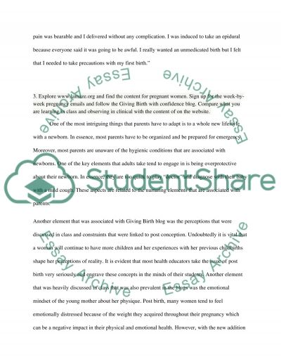 Childbirth Education Assignment