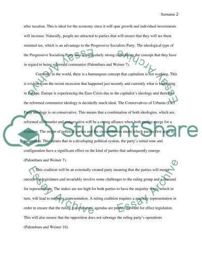A Winning Political Strategy essay example