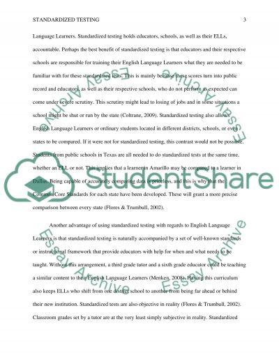 Standardized Testing essay example