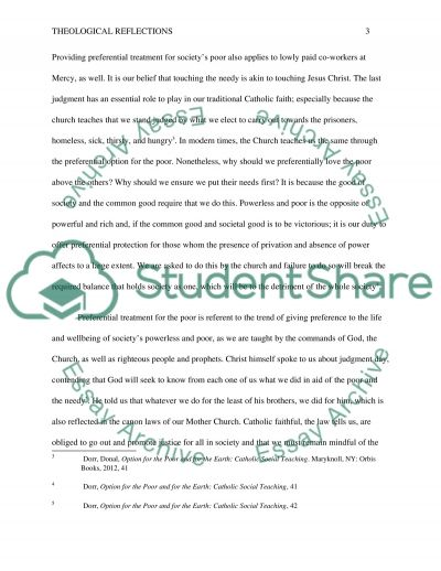 Theological Reflections essay example