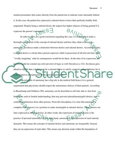Medical Ethics Essay Example  Topics And Well Written Essays    Medical Ethics