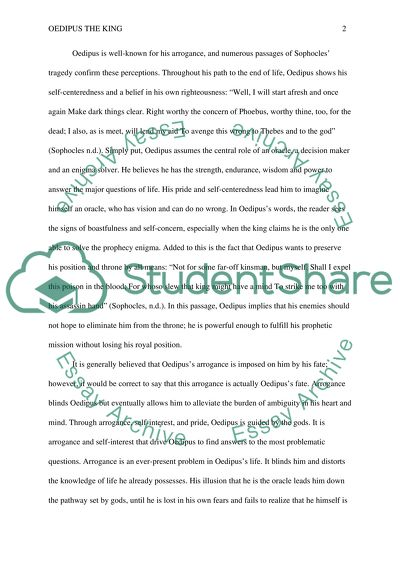 Yellow Wallpaper Essay Oedipus Arrorance And Destiny High School Reflective Essay also Essay On Religion And Science Oedipus Arrorance And Destiny Essay Example  Topics And Well  Research Papers Examples Essays